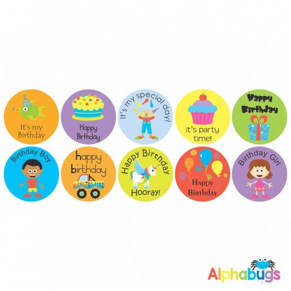 Birthday Stickers – Pack 1