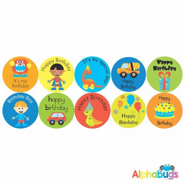 Birthday Stickers – Pack 3