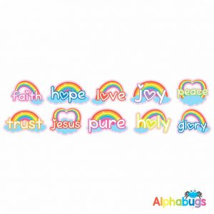 Christian Stickers – Rainbow Faith