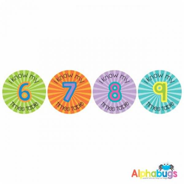 Maths Stickers – I know my Tables 2