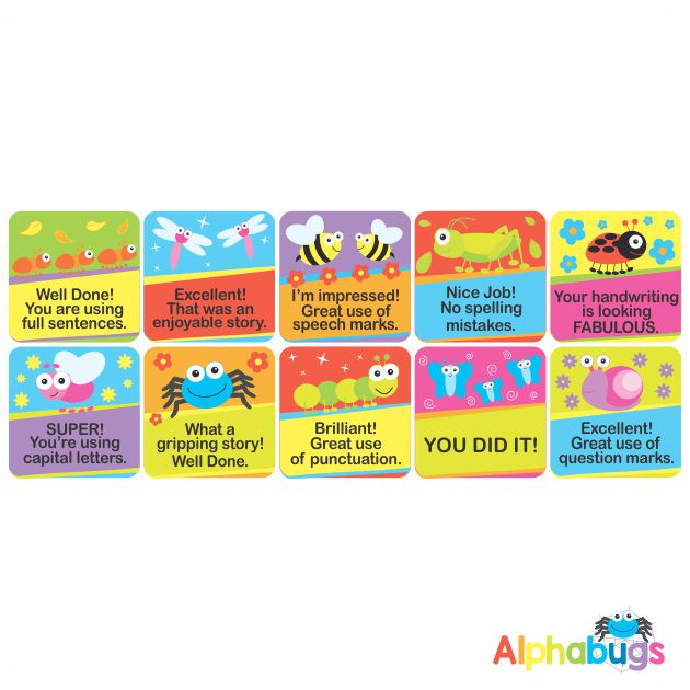 Literacy Stickers – Alphabugs
