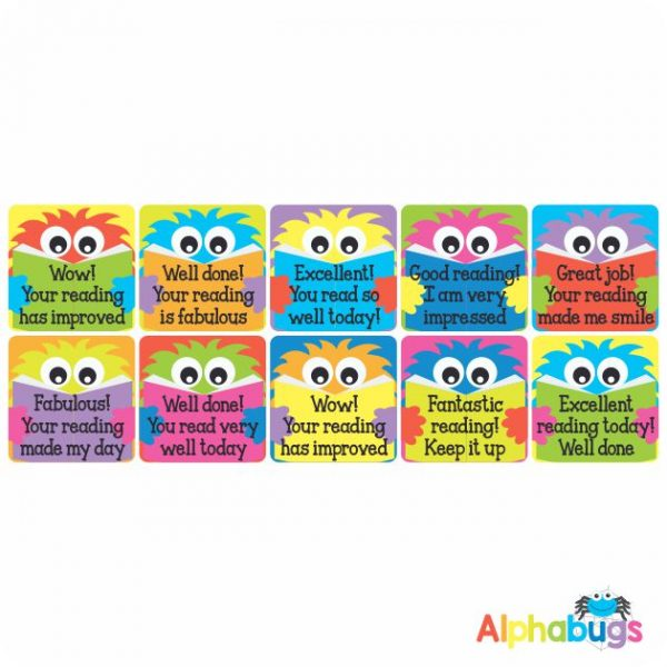 Literacy Stickers – Monster Readers