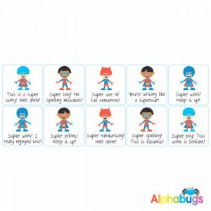 Literacy Stickers – Superboy