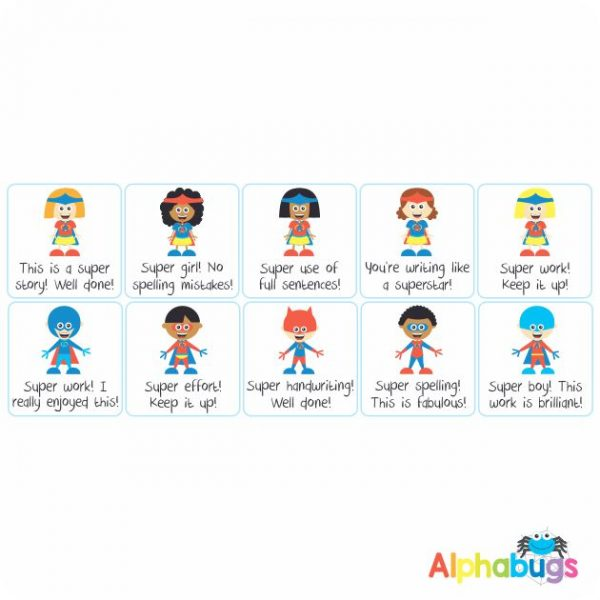 Literacy Stickers – Superkids