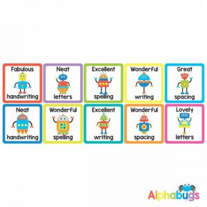 Literacy Stickers – Writing Robots