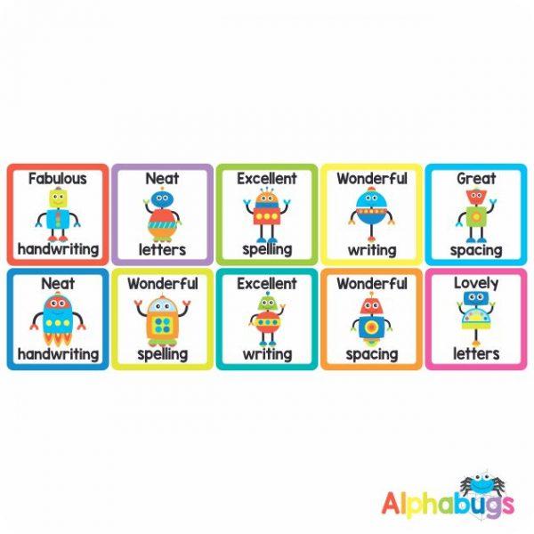 Literacy Stickers – Writing Robots