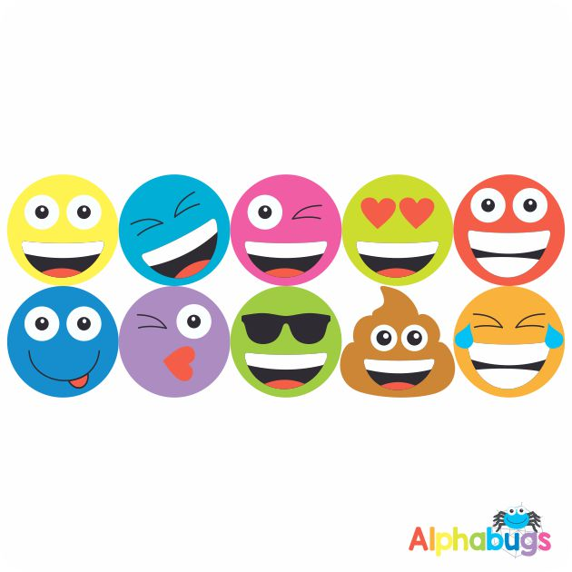 Smiley Stickers – Colourful Smileys