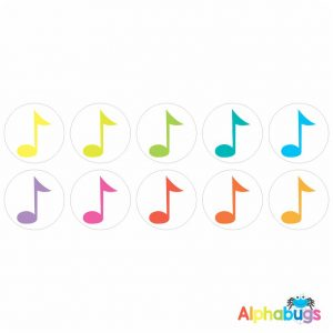 Music Stickers – Colourful Crotchets