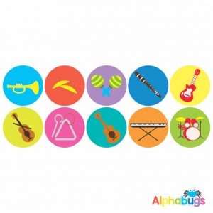 Music Stickers – Musical Instruments