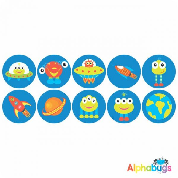 Themed Stickers – Alien Invasion 1