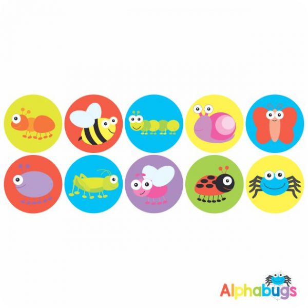 Themed Stickers – Alphabugs 1