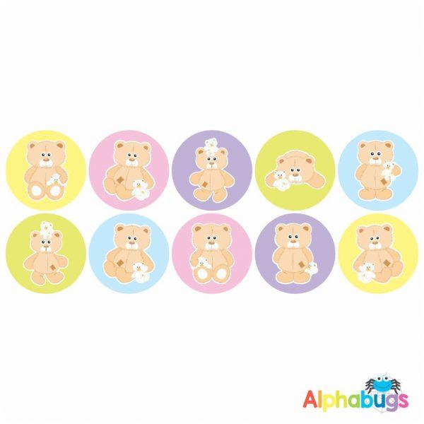 Themed Stickers – Beary Best Friends 1