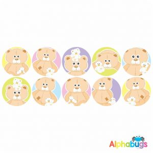 Themed Stickers – Beary Best Friends 2