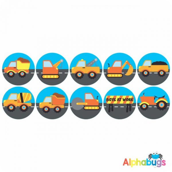 Themed Stickers – Boys at Work