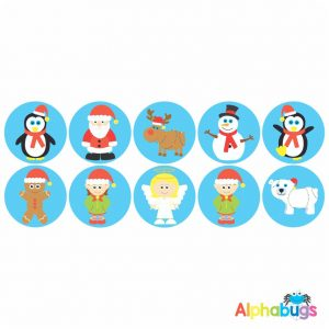 Themed Stickers – Christmas Characters 1
