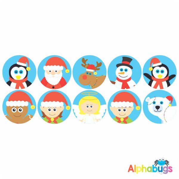 Themed Stickers – Christmas Characters 2