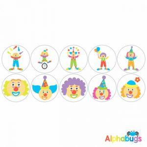 Themed Stickers – Clowning Around 1