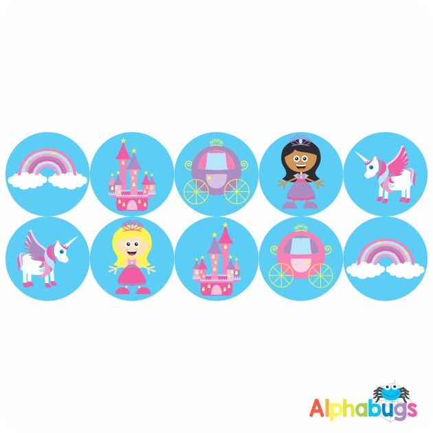 Themed Stickers – Fairy Princess 1