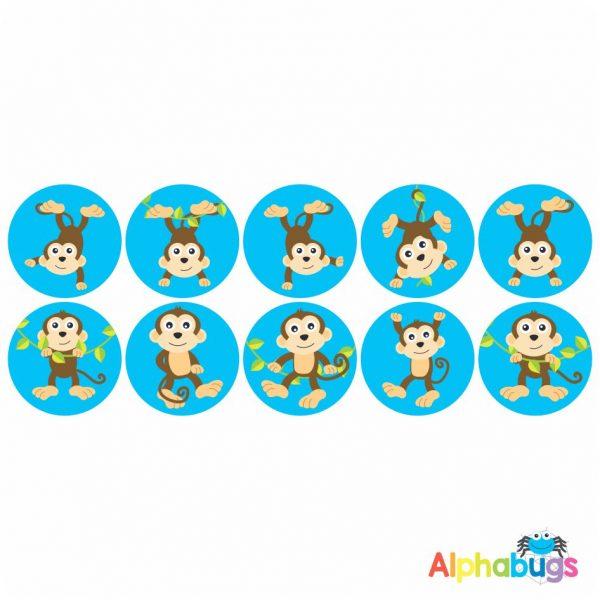 Themed Stickers – Monkey Mischief