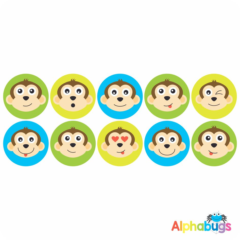 Themed Stickers – Monkey Mischief 2