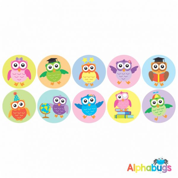 Themed Stickers – Wise Owls