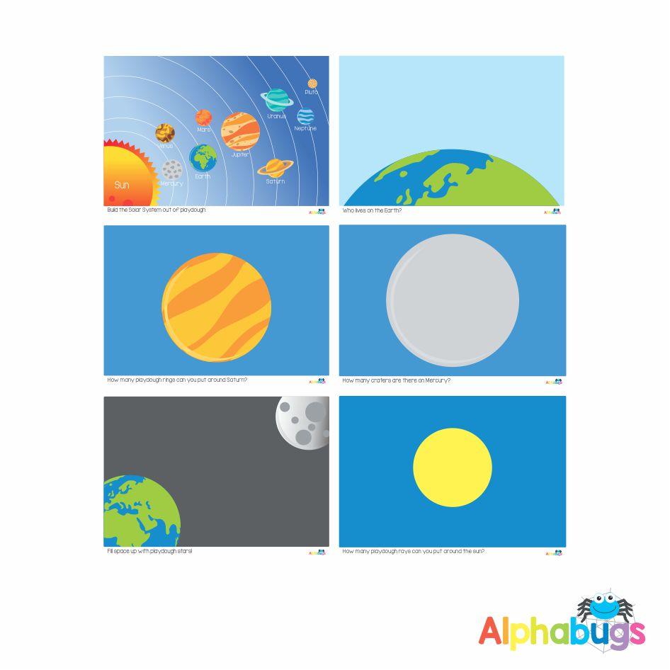 Playdough Mat – Outer Space – All