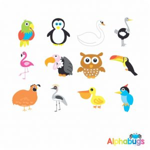 Character Cutouts – Birds of a Feather