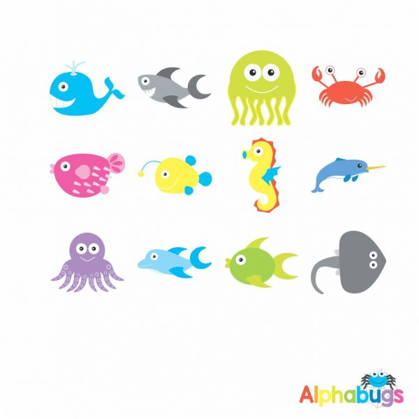 Character Cutouts – Under the Sea