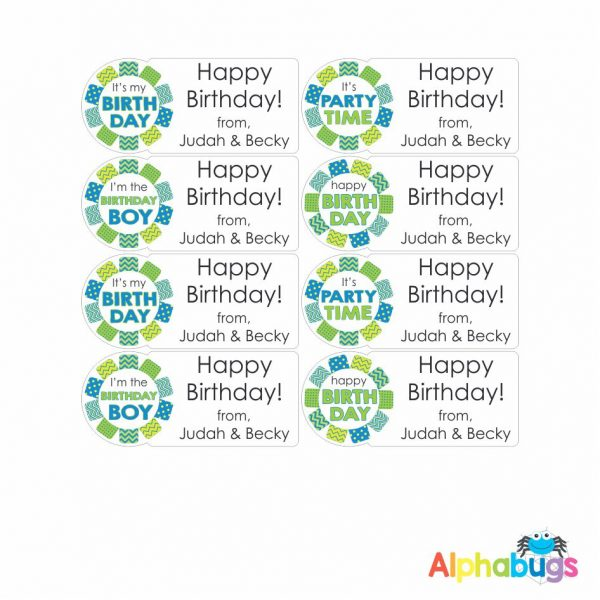 Gift Labels – Blue Green Rosettes