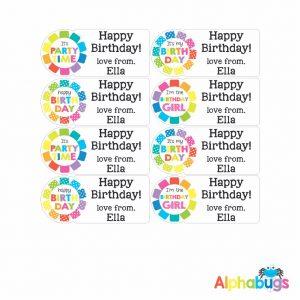 Gift Labels – Rainbow Rosettes