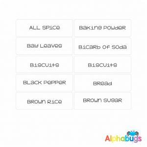 Kitchen Labels – Plain