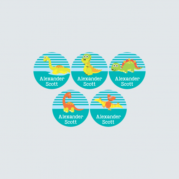 Small Round Labels – Dinoroars