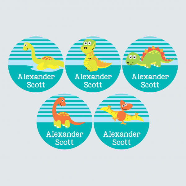 Large Round Labels – Dinoroars
