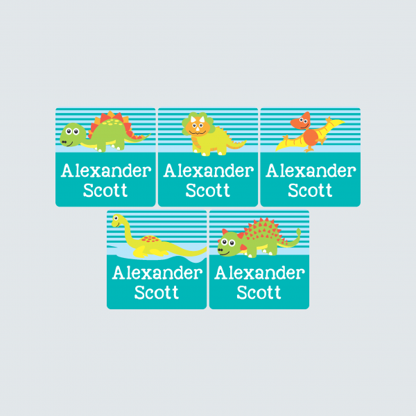 Square Labels – Dinoroars