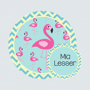 Bag Tag – Fab Flamingos