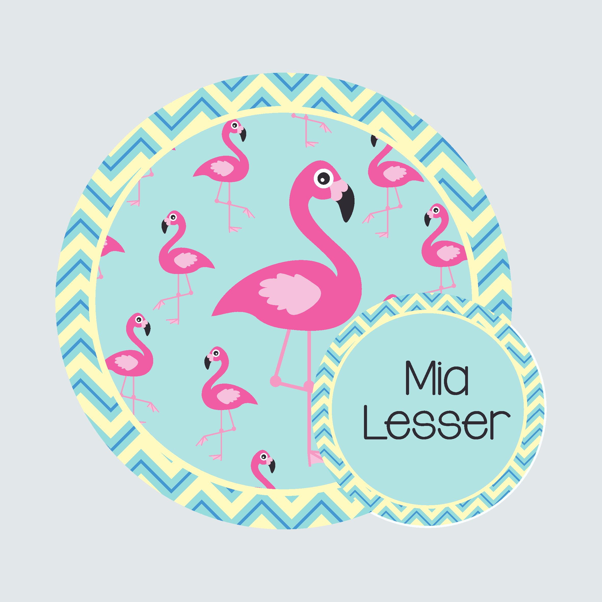 Bag Tag – Fab Flamingos