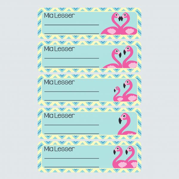 Book Labels – Fab Flamingos