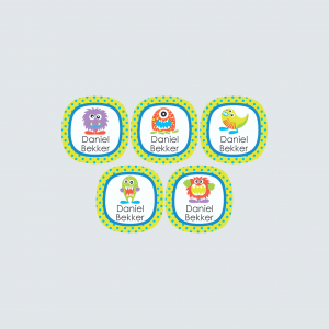 Small Round Labels – Monstrous Monsters