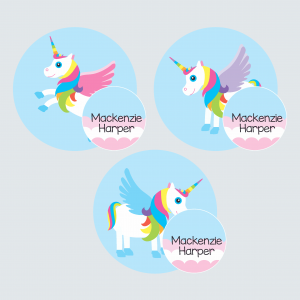 Zip Tags – My Little Unicorn