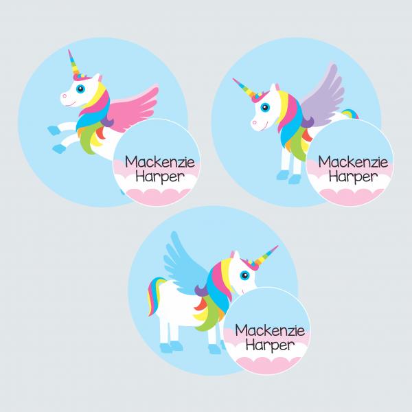 Zip Tags – My Little Unicorn