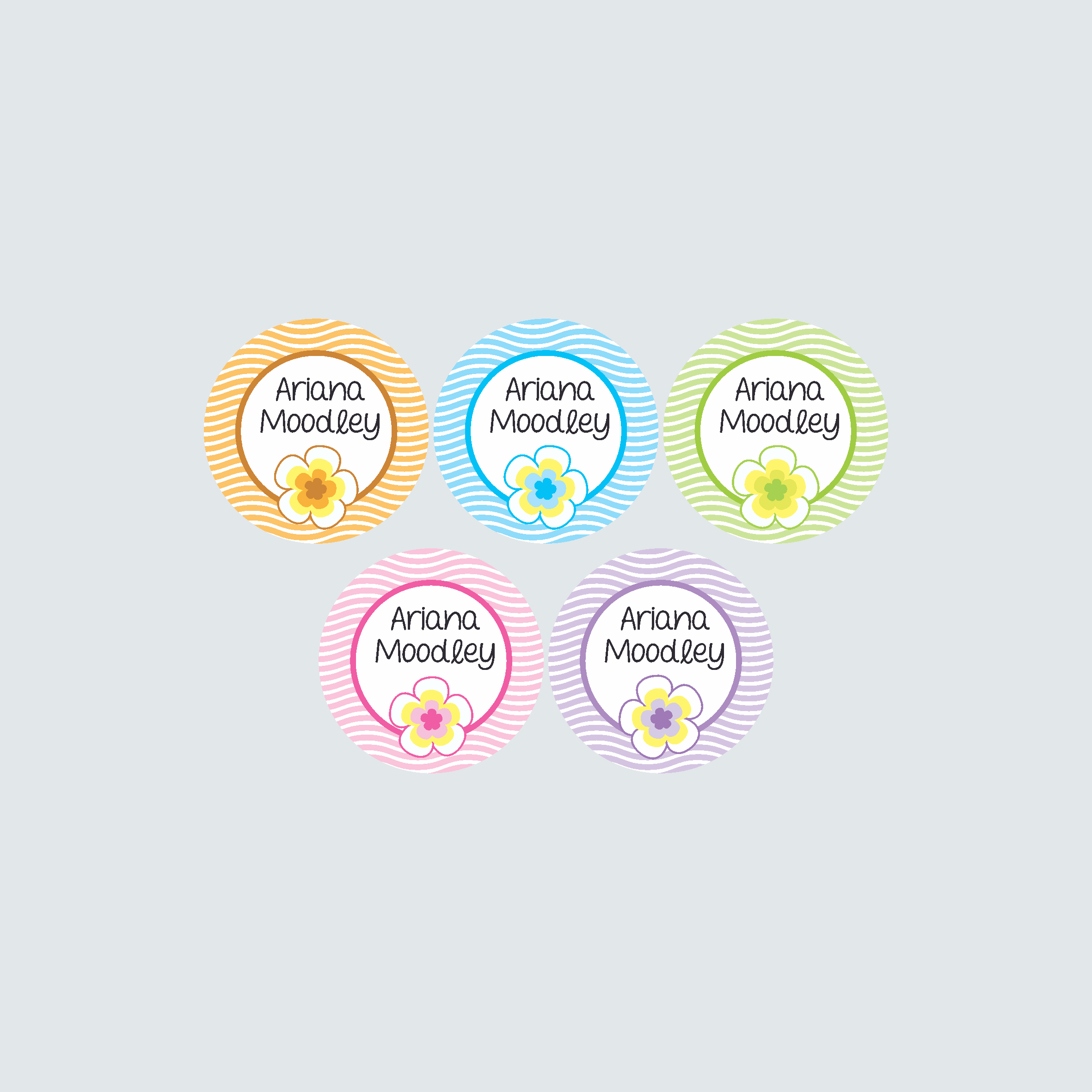 Small Round Labels – Pacific Paradise