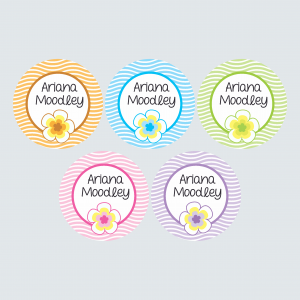 Large Round Labels – Pacific Paradise