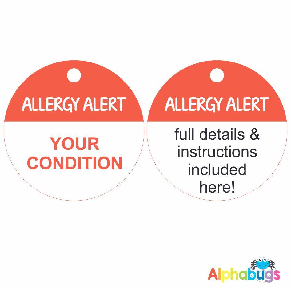 Allergy Alert Tag