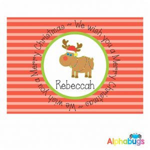 Placemat – Festive Friends Rudolph