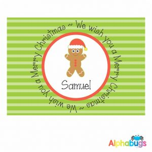 Placemat – Festive Friends Gingerbread Man