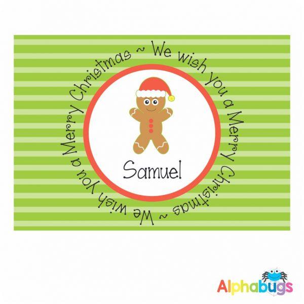 Placemat – Festive Friends Gingerbread Man