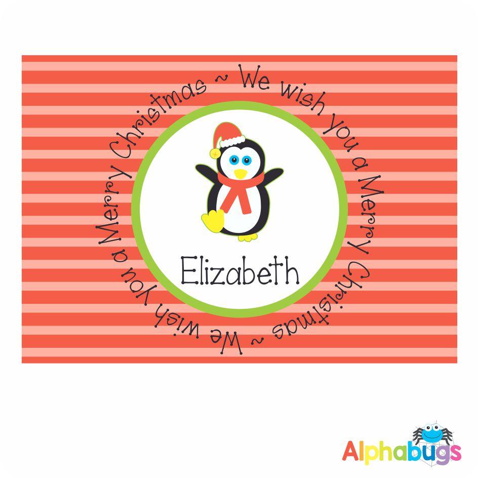 Placemat – Festive Friends Penguin