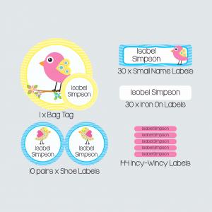 Essential Kids Label Pack – Beautiful Birds