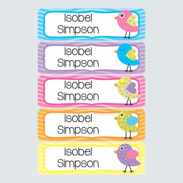 Large Name Labels – Beautiful Birds