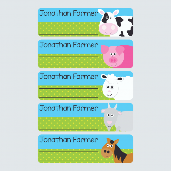Book Labels – At the Farm